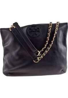 Tory Burch Handbags Marion Book Bag Black Leather - Jildor Shoes, Since 1949