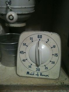 Maid of Honor Vintage Timer.  Retro.   Does your bride need to be on time...... $15.00, via Etsy.