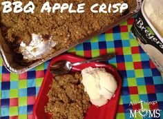 BBQ Apple Crisp - throw on the grill- perfect for summer BBQ's!