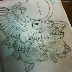 ... Owl Tattoo Design on Pinterest | Owl tattoos Tattoos and Tattoo