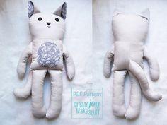 Cat Doll Sewing Pattern & Tutorial PDF by CreateJoyMakeStuff