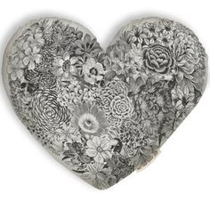 Rise And Fall Heart Pillow, $22, now featured on Fab.
