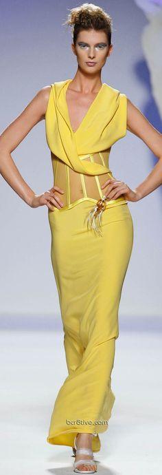 yellow maxi dress @roressclothes closet ideas women fashion outfit clothing style Gattinoni  Couture: