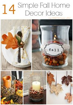 14 simple fall home decor ideas
