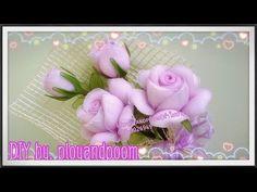 ดอกกุหลาบวาเลนไทน์แบบง่าย( How to make rose nylon/stocking flower by ployandpoom - YouTube