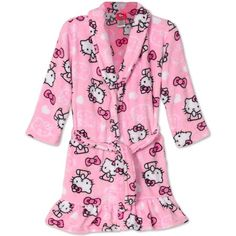 online shopping for SANRIO Hello Kitty Big Girls Pretty Kitty Pink Plush Fleece Robe Bathrobe from top store. See new offer for SANRIO Hello Kitty Big Girls Pretty Kitty Pink Plush Fleece Robe Bathrobe Hello Kitty Clothes, Hello Kitty Shoes, Hello Kitty Bag, Sanrio Hello Kitty, Pretty Cats, Pretty Kitty, Kawaii Clothes, Minimalist Fashion, Pajama Set