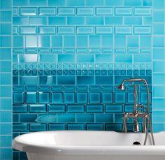 "Beautiful ""Cerasarda"" ceramic tiles for the bathroom."