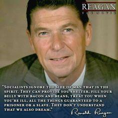 """PRESIDENT Ronald Reagan """"Socialist"""""""