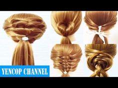 5 videos de peinados faciles y rapidos & trenzas faciles y bonitas (P3)   Peinado 2016 Yencop - YouTube