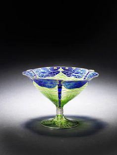 Gustav Gaudernack design for David Andersen. Dragonfly vase in gilt silver and plique-a-jour enamel . 1908. Location Unknown