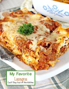 My Favorite Lasagna is an excellent recipe with Italian sausage and Rotel tomatoes with diced chilies to give it a lot more kick than normal lasagnas.