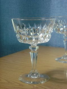 CRISTAL CRIS D'ARQUES CHANTELLE LADY VICTORIA CHAMPAGNE GLASSES LOT OF 3   EXC #CristaldArques