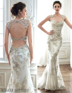 The back of this dress is fantastic