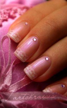 www.weddbook.com everything about wedding ♥ Tartofraises nail art and design #weddbook #wedding #pink #nail