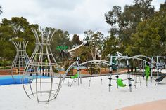 https://flic.kr/p/NTyXHN | Bibra Lake Regional Playground | The 7,000m2 fenced park is designed to cater for people of all ages and abilities.  There are toilet facilities, shaded BBQ areas as well as  barbecues that have wheelchair recesses to make cooking easy.  #PlayRightAustralia #Kompan #Corocord #playgrounds