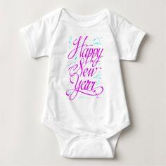 Happy New Year Baby Bodysuit #newyear #kids #baby #apparel #clothing