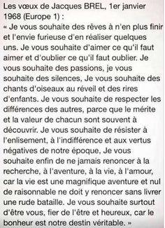 Les voeux de Jacques Brel (1968) | Journal des bonnes nouvelles