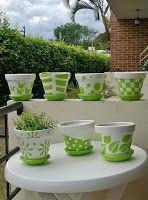 10 Good Ideas to inspire the week - Diy Garden Art ideas Flower Pot Art, Flower Pot Design, Flower Pot Crafts, Clay Pot Crafts, Clay Pot Projects, Painted Plant Pots, Painted Flower Pots, Paint Garden Pots, Garden Crafts