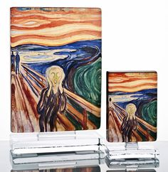 Know thy art! Why don't you decorate your home with 'The Scream' by Edvard Munch art blocks? These are the official licensed products in collaboration with the Munch Museum. Produced at Magnor Glassverk. Scream Art, Edvard Munch, Decorating Your Home, Norway, Collaboration, Decals, Museum, Night, Tableware