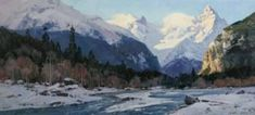 Winter in the Teberda Gorge #OilPaintingWinter