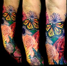 flower tattoo sleeves - Google Search