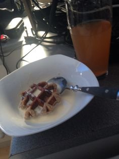 Waffles in bed