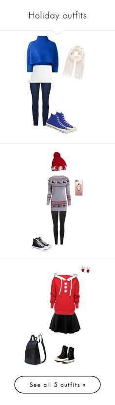 """""""Holiday outfits"""" by arzania313 ❤ liked on Polyvore featuring Sans Souci, Vika Gazinskaya, Vivienne Westwood, Converse, Yeezy by Kanye West, WithChic, Casetify, Wildfox, Joe Browns and STELLA McCARTNEY"""