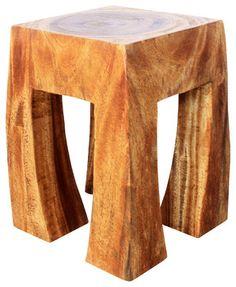 Blocky Stool Sust Wood