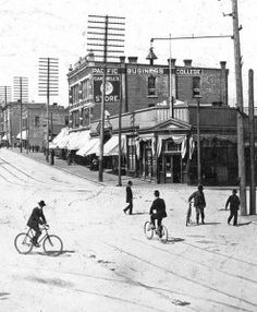 Hastings and Cambie cyclists 1898 small