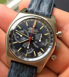 Montre Zenith vintage 1971 Want something a little cheaper? Here are 8 #vintage #watches you can buy for less than $500 that will instantly boost your image. http://www.alphareboot.com/8-vintage-watches-under-500-instantly-boost-image/