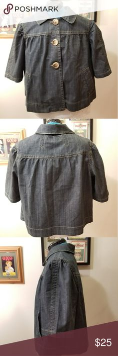 Mwah Jeans Denim Jacket Cute denim jacket by Mwah Jeans. The size was cut out but appears to be about a 14, maybe a little larger. MWAH Jackets & Coats Jean Jackets