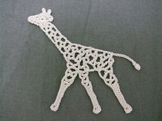 Ravelry: Giraffe motif pattern by Chinami Horiba; this woman has many cute appliques free on Ravelry