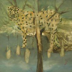 Sidney Nolan (Australian, Leopard in the Trees, Oil on board, 120 x 120 cm. Australian Painting, Australian Artists, Figure Painting, Painting & Drawing, Sidney Nolan, Animal Totems, Sculpture, Summer Art, Cool Artwork