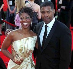 Denzel Washington con su esposa Pauletta Denzel Washington, Attractive Men