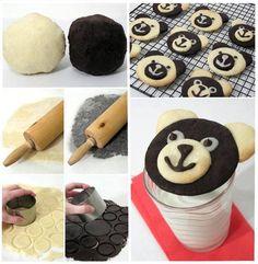 Come fare biscotti panda con pasta frolla - Spettegolando