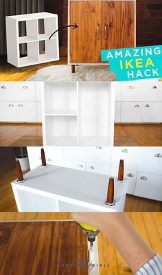 The IKEA Kallax collection Storage furniture is an essential section of any home. Fashionable and wonderfully simple the ledge Kallax from Ikea , for example. Home Diy, Furniture Diy, Furniture Hacks, Ikea Makeover, Furniture Makeover, Kallax Ikea, Ikea Furniture, Ikea Furniture Hacks, Home Decor