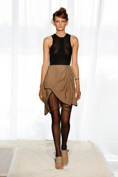 Katie Gallagher - SP 2013  love the sheer w/seaming detail on the legs
