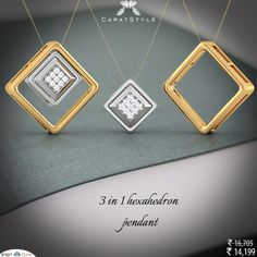 Multiply your love by 3, Shop 3 In 1 Hexahedron #Pendant. #diamondpendant…