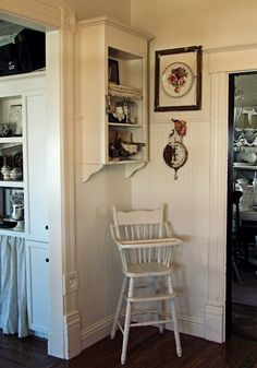 I'm going to paint my old high chair in Annie Sloans Antique White chalk paint for my grandbaby. What a great idea!
