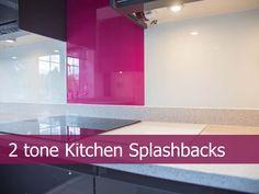 Two tone glass kitchen splashbacks by CreoGlass Design (London,UK). View more glass kitchen splashbacks on http://www.creoglass.co.uk/kitchen-glass-splashbacks/two-tone-design/ #kitchen