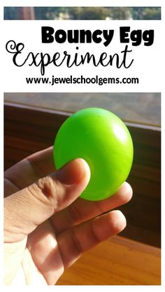 Find out how you can create this bouncy green egg with my EASTER SCIENCE RESOURCE! | Students learn about calcium carbonate, acetic acid and chemical reactions the fun way by using this PowerPoint resource that is presented in the way of the Scientific Method. This Easter Science resource also works well with the accompanying flipbook. | #nakedegg #easter  #scienceexperiments