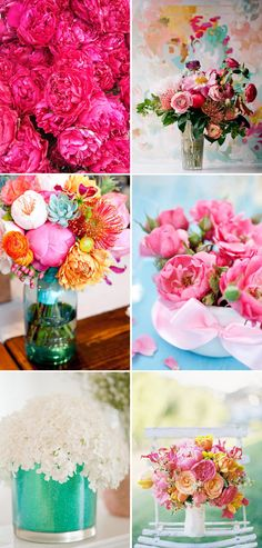 Flashy Florals Pink Kate Spade Inspired Flowers