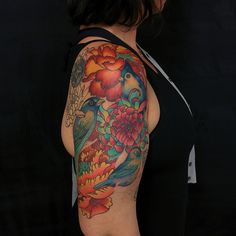 70 Cool Half Sleeve Tattoo Ideas For Men & Women Check more at http://tattoo-journal.com/50-cool-half-sleeve-tattoos/