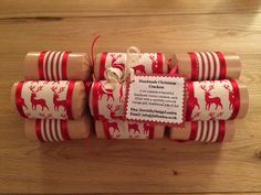 Exquisite Hand Made Crafted Vintage Shabby Chic Scandinavian reindeer Christmas Cracker Set - Ladies & Gents original unique gifts. by JewelsByDesignLondon on Etsy