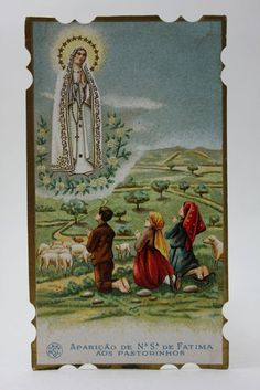 OLD OUR LADY OF FATIMA HOLY CARD
