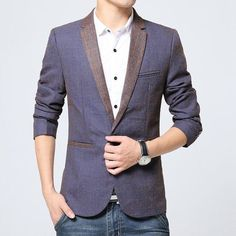 Mens Blazers Men's Fashion High-end Temperament Is Pure Color Men Blazer Brand The Big Size Chinese Collar Suit Jacket Men