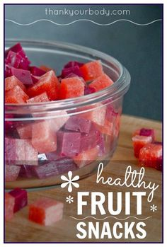Here is a simple and healthy fruit snacks? Look no further! Using whole fruits, grass-fed gelatin, and a little bit of honey... it's a kid-friendly treat!