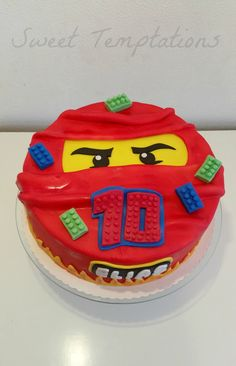 Ninjago Kai cake for a big Lego Ninjago fan ;)