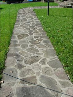 Walks and stepping stone paths of natural stone  brick  unilock and pavers Modern Flagstone Walkway Ideas   flagstone pathway  flagstone  . Flagstone Sidewalk Pictures. Home Design Ideas