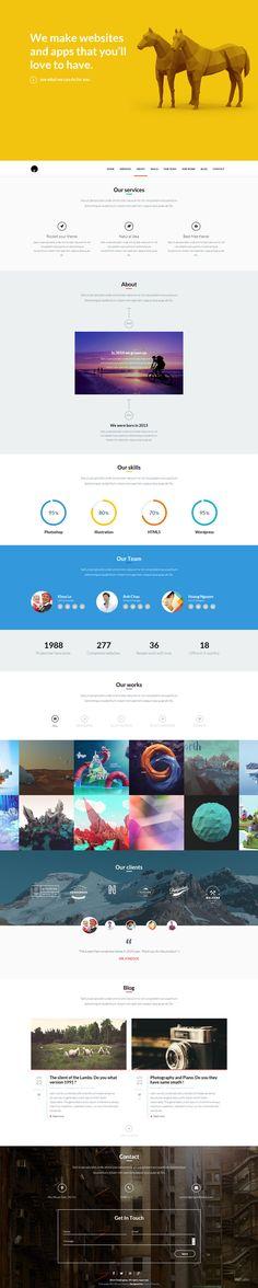 OneEngine - Free Multi-Purpose One Page WordPress Theme